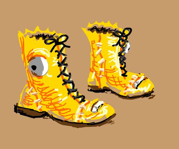 Bart Simpson Boots