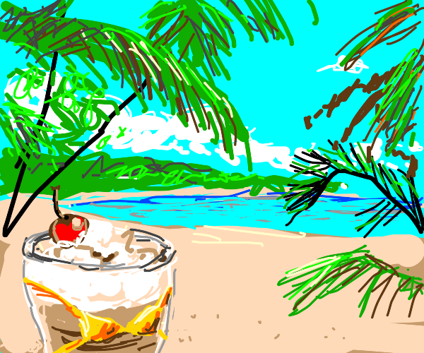 Milkshake visits the beach
