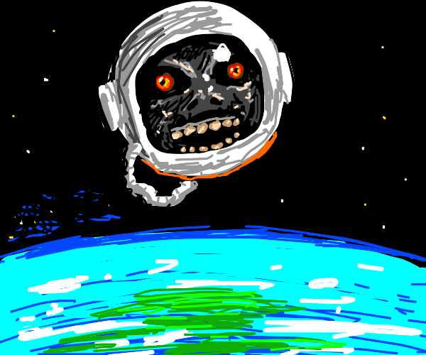 the moon from Majora's Mask in space