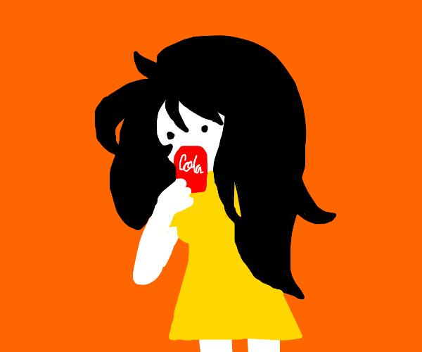 heckin adventure time vampire drinkin cola