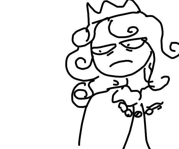 Displeased king