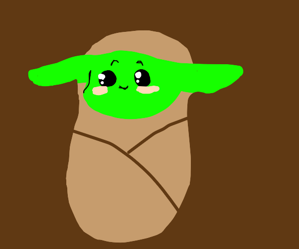 Yoda in the form of an infant.