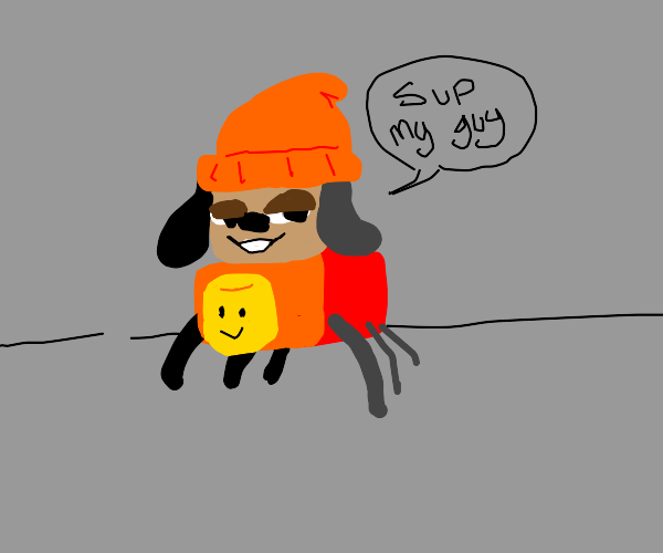 Parappa as a Spider and a Roblox Character