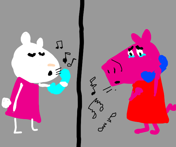 Peppa Pig is Sad Because She Can't Whistle