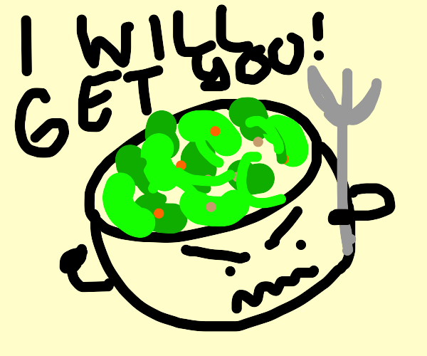 Evil Salad Want To Kill You With Fork