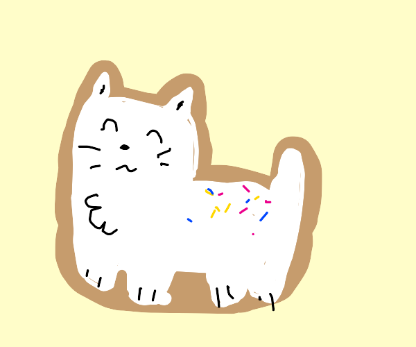 a frosted animal cookie