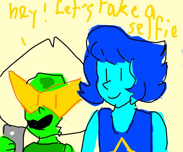 Peridod and Lapis selfie.