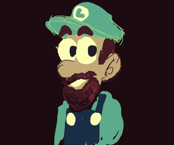 Luigi grew a beard