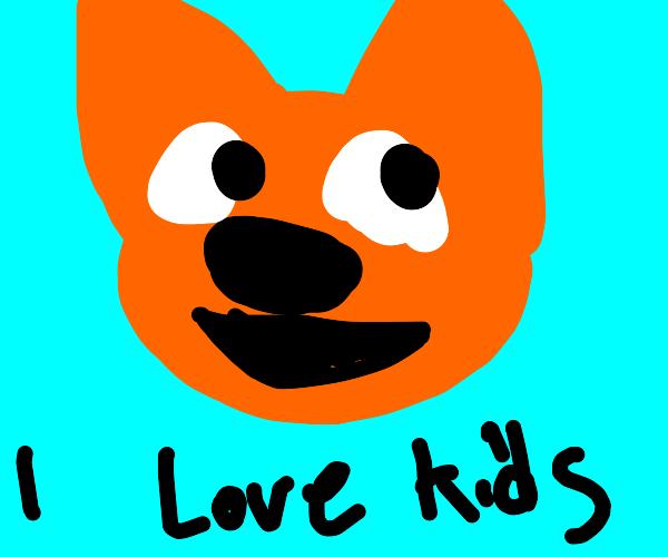 Smiling orange cat