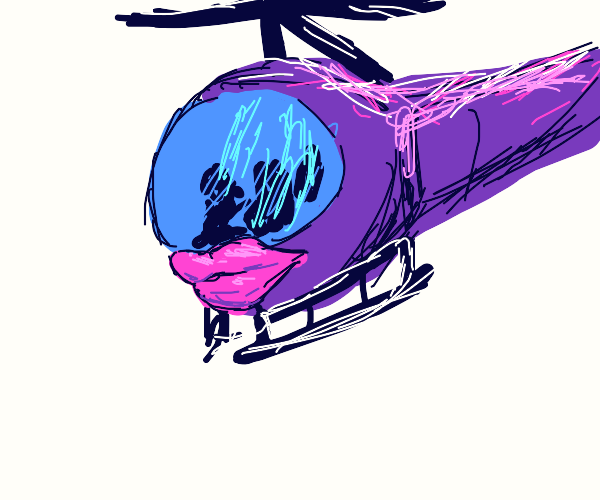 Helicopter with lips