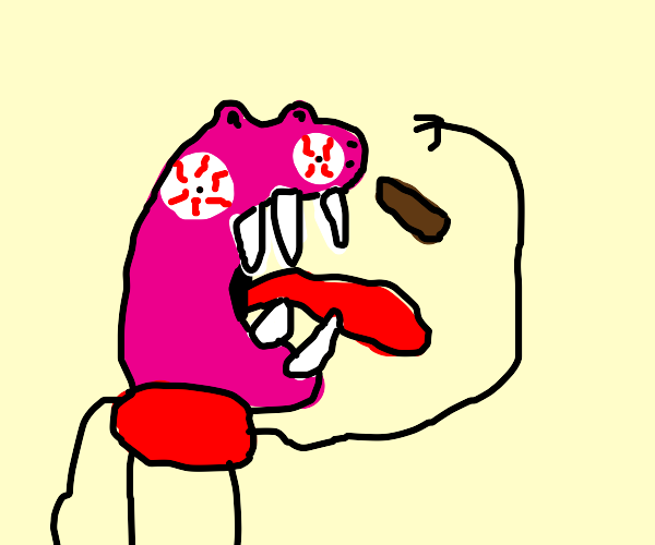 Peppa pig eats chocolate bar