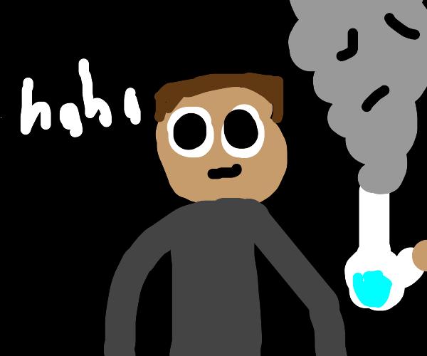 drugged up guy says haha