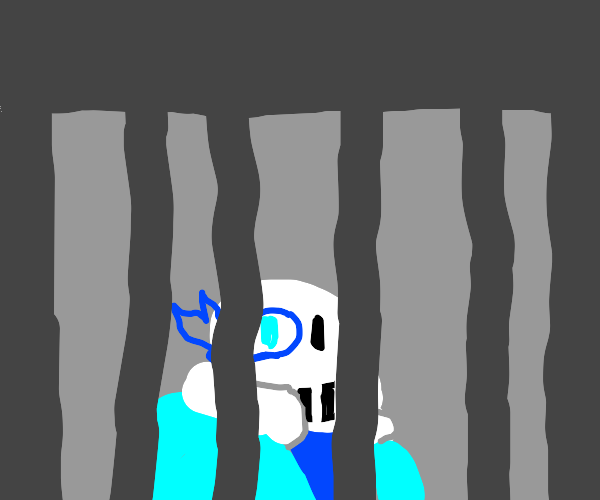 Sans being tortured in a dungeon