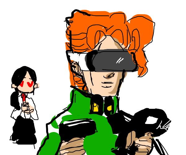 Girl loves gamer kakyoin