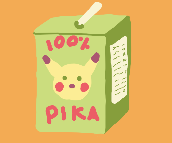 Pokemon-themed drink