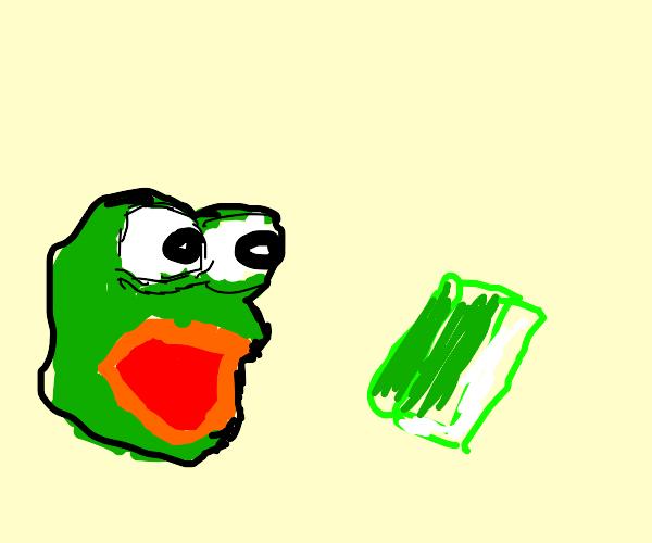 Was the notebook REAAAAALY green?