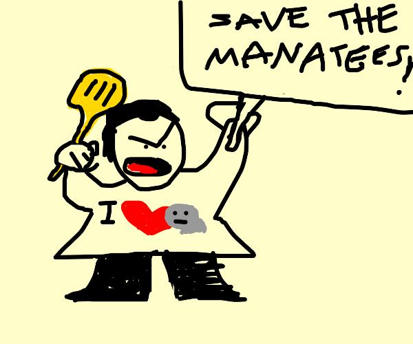 Manatee rights activist