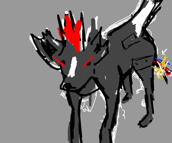Robo Demon Fox/dog with Mohawk