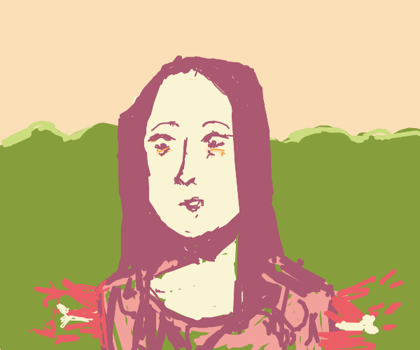 mona lisa lost her arms