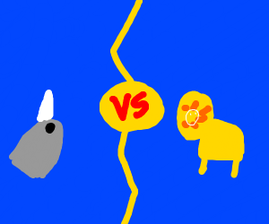 narwhal vs. lion