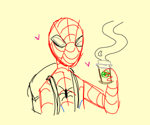 Spider-man needs caffeine
