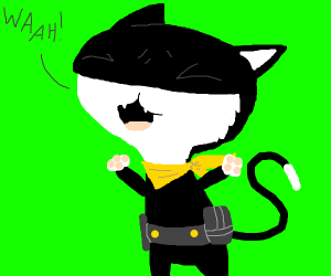 Morgana from Persona 5 is crying