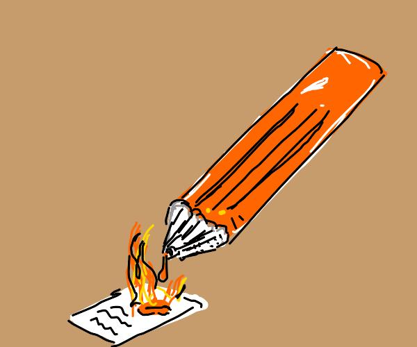 Lava pencil