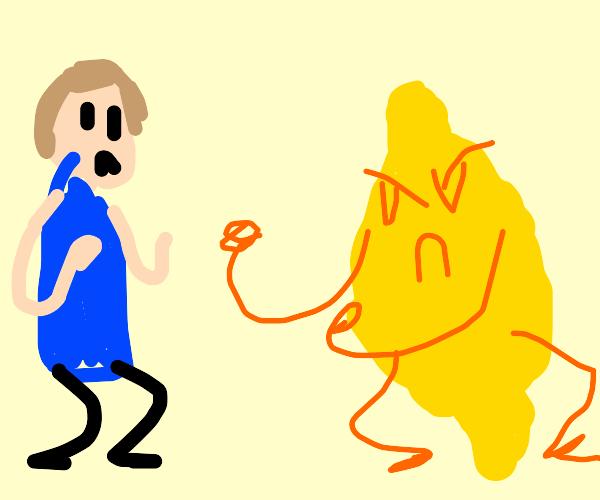 Lemon wants to fight man
