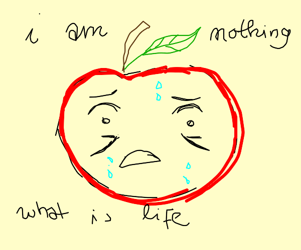 Existential crisis of a living fruit