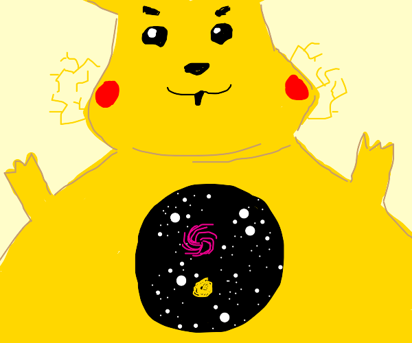 Fat pikachu is bigger than the universe