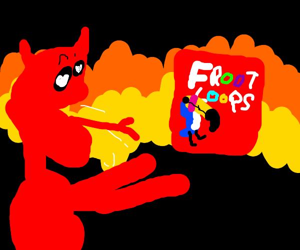 Demon enjoys froot loops