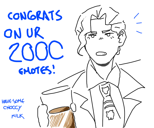I, KiraYoshikageDIU got 2000 emotes, I guess.
