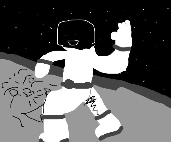 A Very Polite Moon Landing