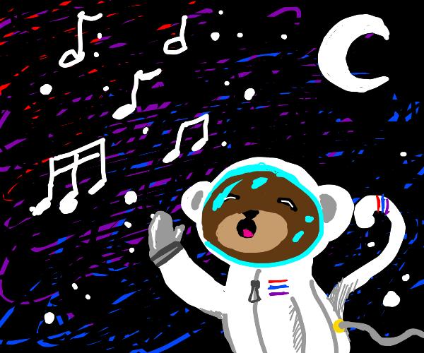 space monkey sings