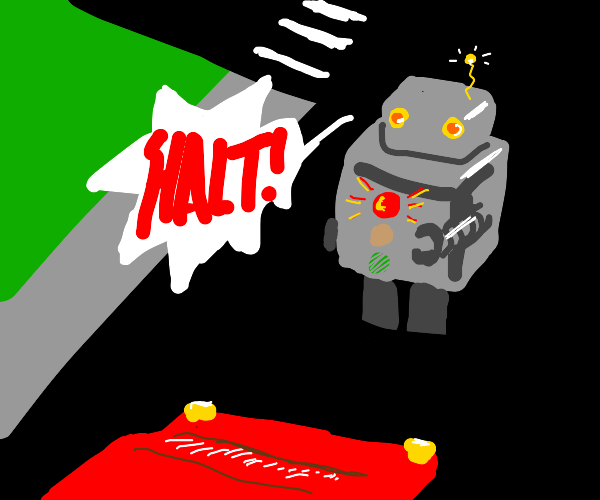 Robot traffic light