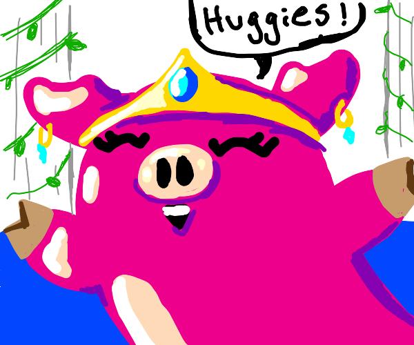 Queen pig wants hug