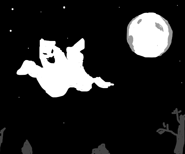 Ghost flying at night