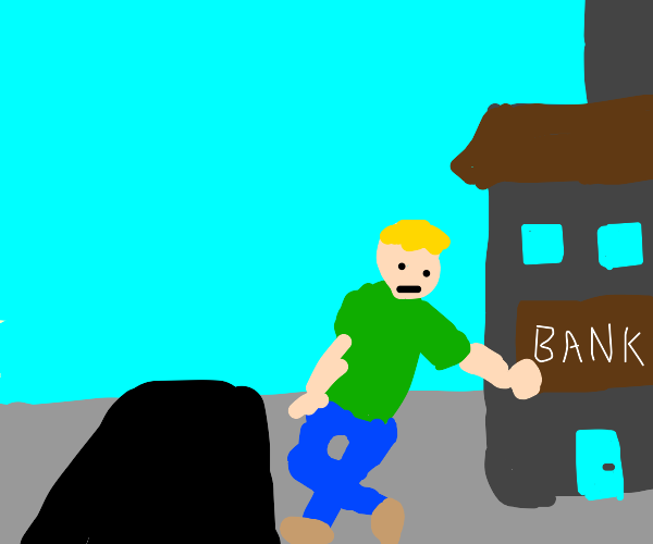 person lays on bank