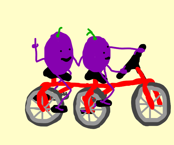 Grapes on a bicycle