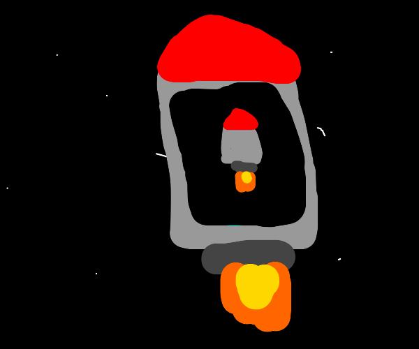 A rocket inside a rocket