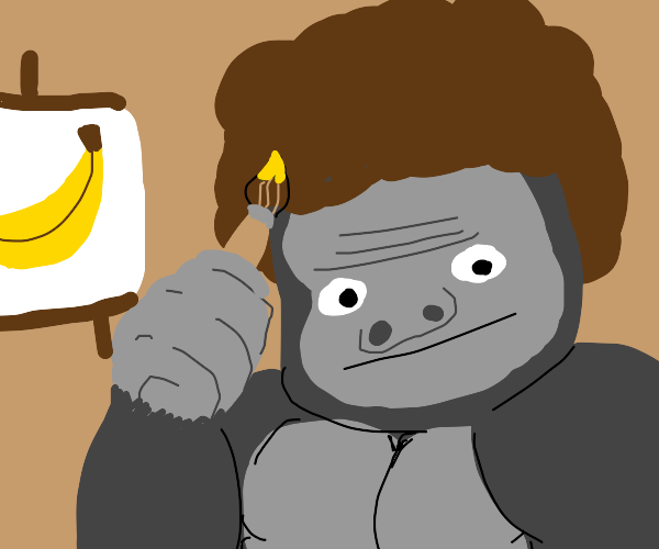 Gorilla makes beautiful art