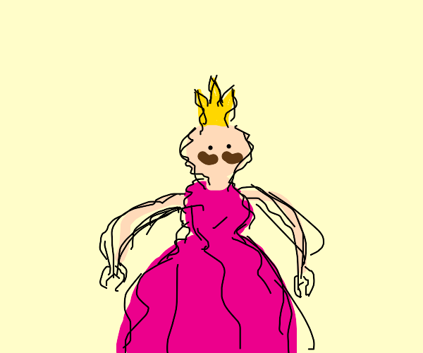 cursed princess that is scribbly with mustach