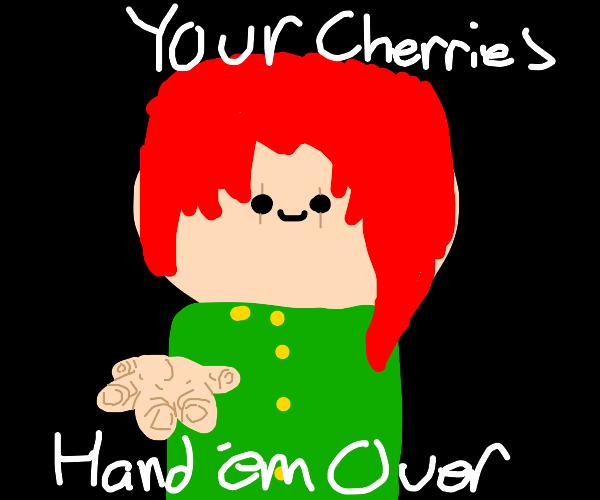 Kakyoin wants all of the cherries