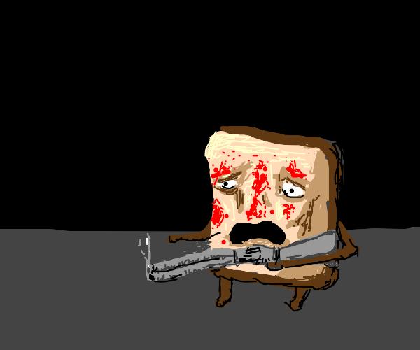 Bread stops home intruder