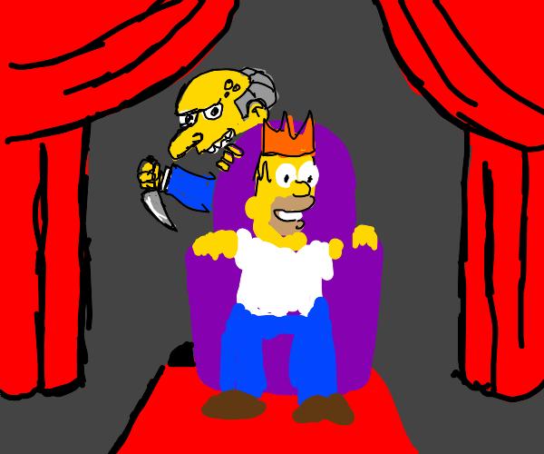 Mr.burns killing king homer