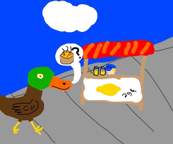 hey! (bom bom bom) got any soup? (duck)