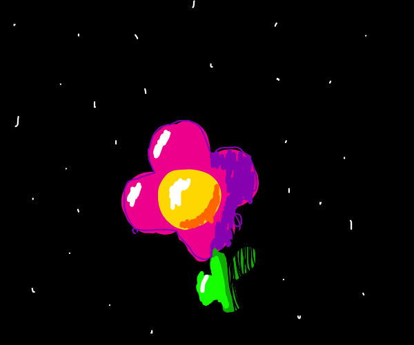 A Flower in Space