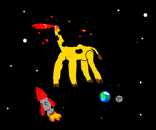 headless giant space giraffe