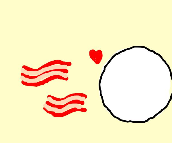 circle loves bacon