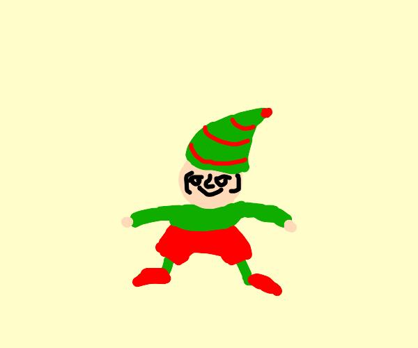 Lenny-faced elf